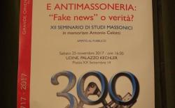 """Udine. Giornalismo e antimassoneria. Fake news o verità? Il Gran Maestro: """"Contro di noi castelli di accuse, poi tutto regolarmente smontato"""""""