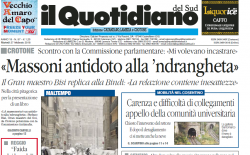 Massoni antidoto alla 'ndrangheta/Il Quotidiano del Sud