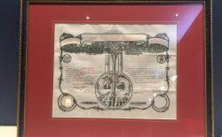 Un documento di 105 anni torna tra le colonne della loggia genovese Stella d'Italia