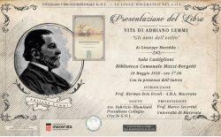 Macerata. Presentazione il 18 maggio del libro sul Gran Maestro Adriano Lemmi