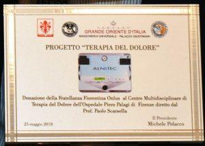 La Fratellanza Fiorentina consegna il Progetto Terapia del Dolore