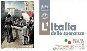 XX Settembre 2018. L'Italia delle speranze è il tema delle celebrazioni di quest'anno