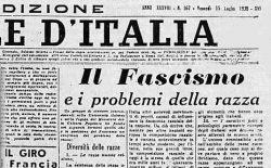 Ottanta anni fa il Manifesto della razza. ll Goi per primo ha cancellato questo terribile termine dal suo Statuto