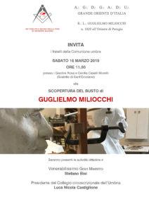 Invito busto Guglielmo Miliocchi