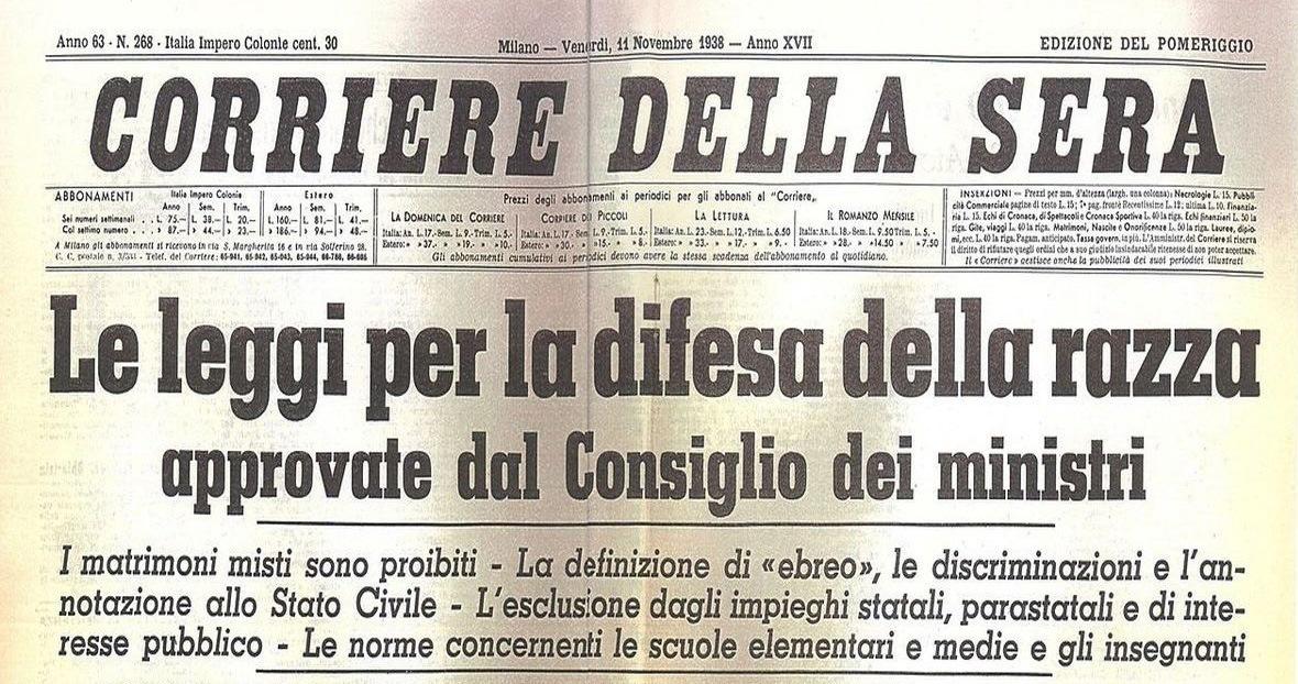 A ottant 39 anni dalle leggi razziali incontro con bruno for Chi fa le leggi in italia