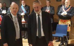 """Incontro con il rabbino di Roma a Casa Nathan. Il Gran Maestro: """"Dobbiamo combattere i rinascenti razzismi"""". Di Segni: """"Abbiamo valori comuni da difendere"""""""