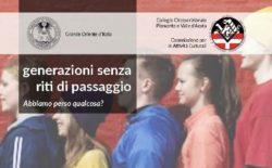 Generazioni senza riti di passaggio. Il 18 maggio l'incontro mensile nella casa massonica di Torino
