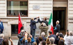 Una targa ricordo a Ginevra per Giuseppe Chiostergi, antifascista e massone. Il Gran Maestro presente alla cerimonia