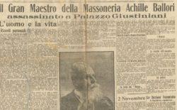 Il Grande Oriente ricorda il fratello Achille Ballori ucciso il 31 ottobre del 1917