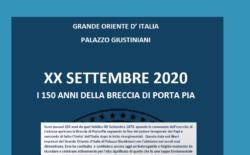 EVENTI 2020, 20 SETTEMBRE. I 150 anni della breccia di Porta Pia. Il manifesto del Grande Oriente