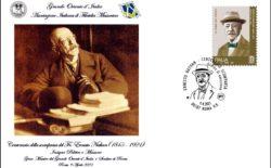 Una busta con annullo dell'Aifm per Ernesto Nathan nel centenario della morte