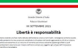 """Il Manifesto del XX Settembre 2021. """"Libertà è responsabilità"""""""